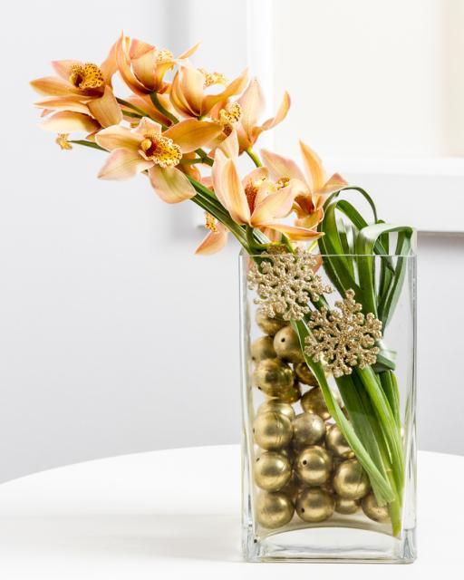 Divatos karácsonyi dekoráció orchideával
