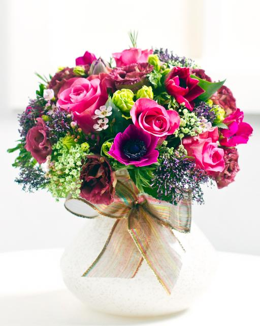 Round Bouquet of Pink Roses