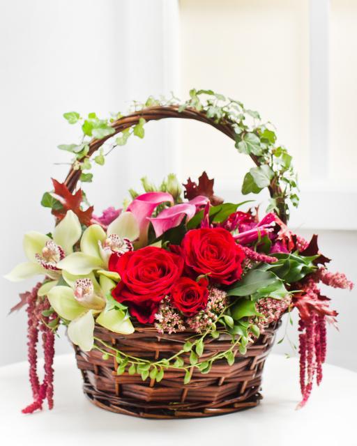 Csodálatos virágkosár