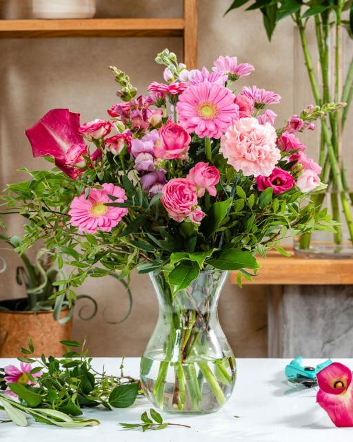 Happy & pink - florist's fantasy