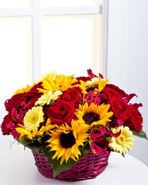 Virágkosár, virágtál