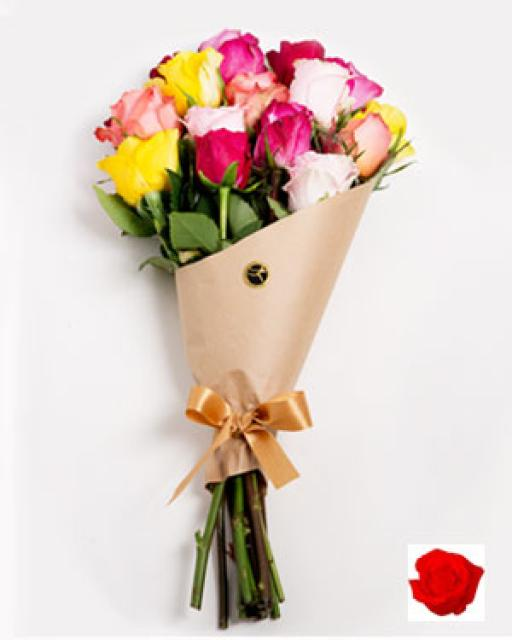 WHOLESALE - TALLINN/TARTU RED ROSES IN BOUQUET. Choose the amount(min. quantity 10 bouquets)